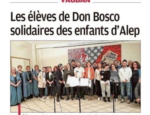 À l'honneur dans le journal La Provence : l'action pour les enfants d'Alep
