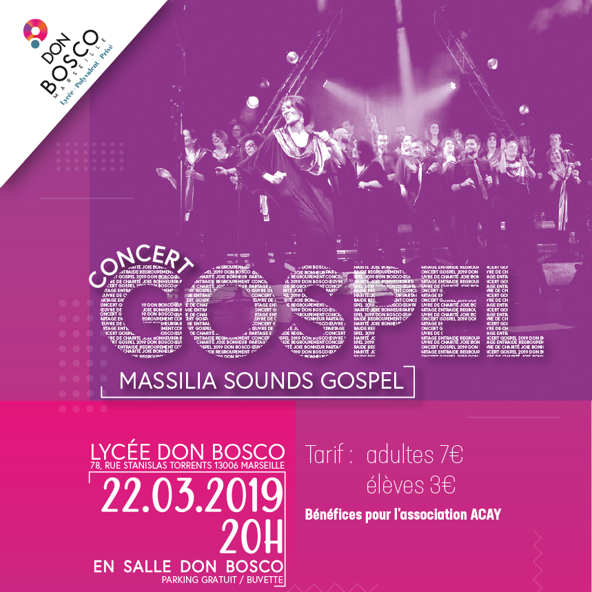 Concert Massilia Sounds Gospel - 22 mars 2019
