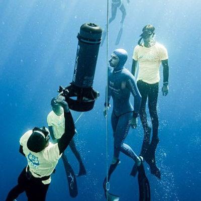Record du monde de plongée par Arnaud Jerald